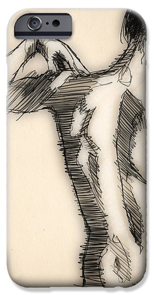 Figure Study IPhone Case by H James Hoff