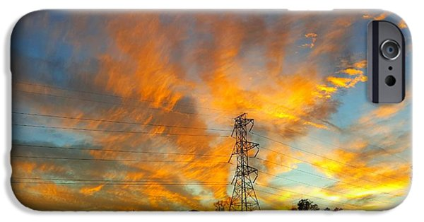 Fire In The Sky IPhone Case by Joseph Kimmel