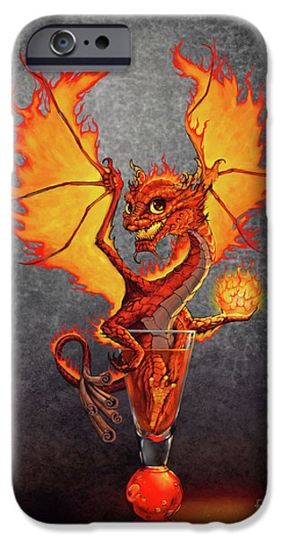 Fireball Dragon IPhone Case by Stanley Morrison