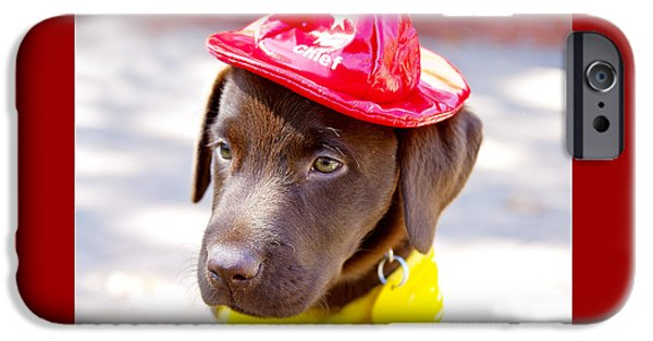 Firefighter Pup IPhone Case by Toni Hopper
