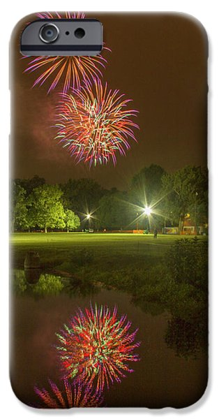 Fireworks During Fair St Louis IPhone Case by Garry McMichael