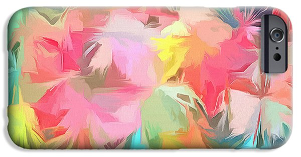 Fireworks Floral Abstract Square IPhone 6s Case by Edward Fielding
