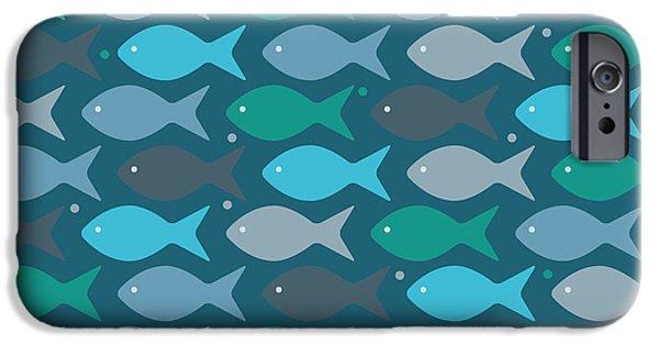Fish Blue  IPhone Case by Mark Ashkenazi