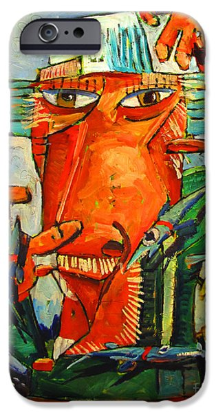Fish Juggler In The White Hat At Sea IPhone Case by Charlie Spear