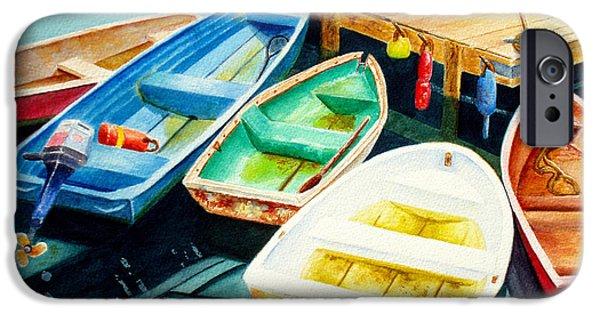 Fishing Boats IPhone Case by Karen Fleschler
