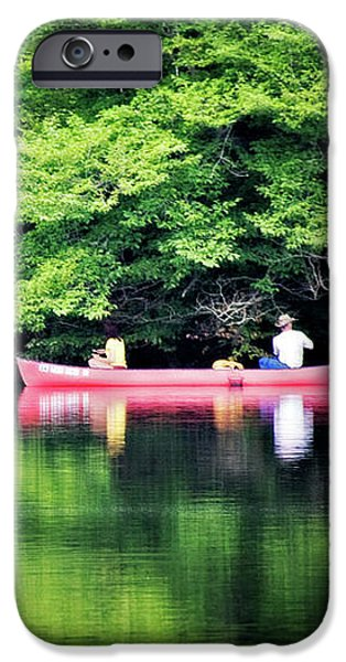 Fishing On Shady IPhone Case by Lana Trussell