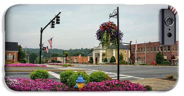 Flags And Flowers In Murphy North Carolina IPhone Case by Greg Mimbs