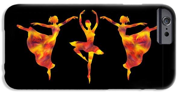 Flamboyant Trio Dance IPhone Case by Irina Sztukowski