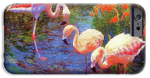 Flamingos, Tangerine Dream IPhone 6s Case by Jane Small