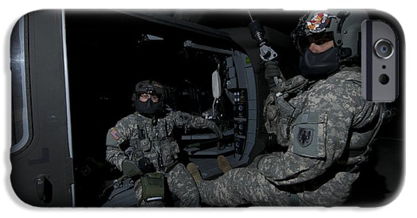 Flight Medics Practice With The Uh-60 IPhone Case by Terry Moore