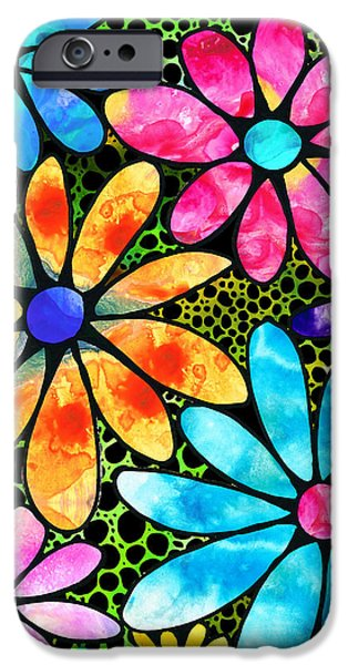 Floral Art - Big Flower Love - Sharon Cummings IPhone Case by Sharon Cummings