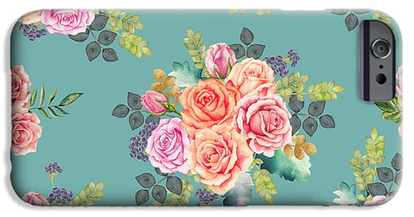 Floral Pattern 2 IPhone Case by Stanley Wong