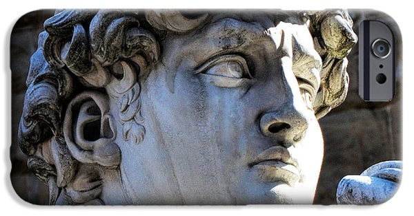 Florence, Italy  David's Head Statue IPhone Case by Barbara Peonio
