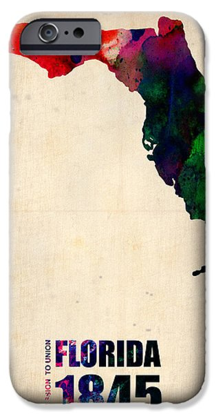Florida Watercolor Map IPhone 6s Case by Naxart Studio
