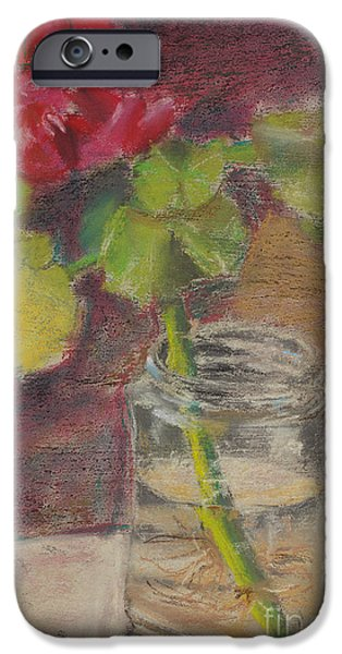 Flower And Canning Jar Still Life Caffrey Fielding IPhone Case by Caffrey Fielding