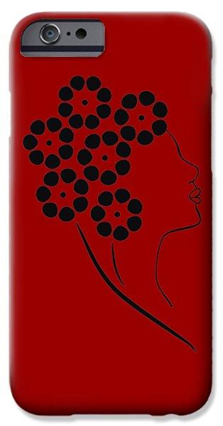 Flower Girl IPhone Case by Frank Tschakert