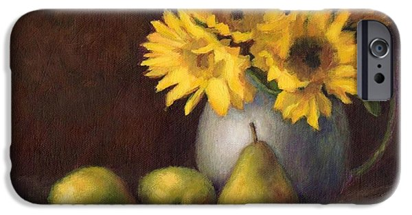 Flowers And Fruit IPhone Case by Janet King