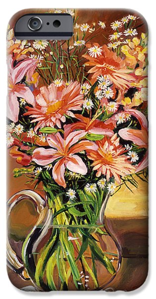 Flowers In Glass IPhone Case by David Lloyd Glover