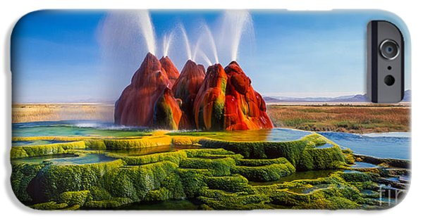 Fly Geyser Panorama IPhone Case by Inge Johnsson