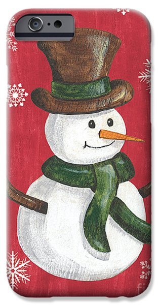 Folk Snowman IPhone Case by Debbie DeWitt