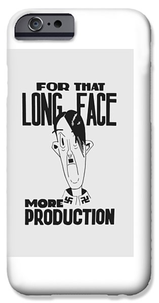 For That Long Face - More Production IPhone Case by War Is Hell Store