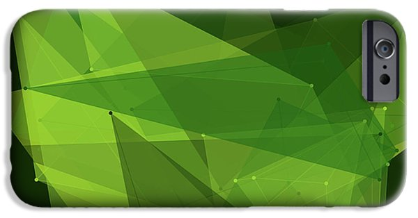 Forest Polygon Pattern IPhone Case by Frank Ramspott