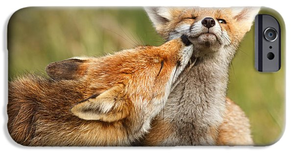 Foxy Love Series - But Mo-om IPhone Case by Roeselien Raimond