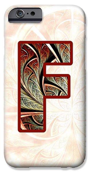 Fractal - Alphabet - F Is For Fractal Creations IPhone Case by Anastasiya Malakhova
