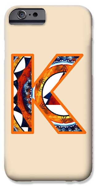 Fractal - Alphabet - K Is For Kaleidoscope IPhone Case by Anastasiya Malakhova