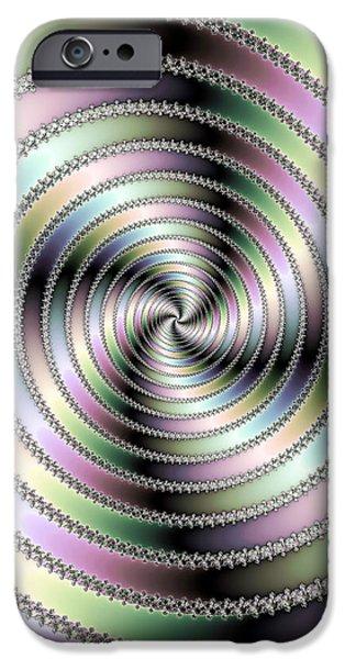 Fractal Op Art Hypnotizing Spiral IPhone Case by Matthias Hauser