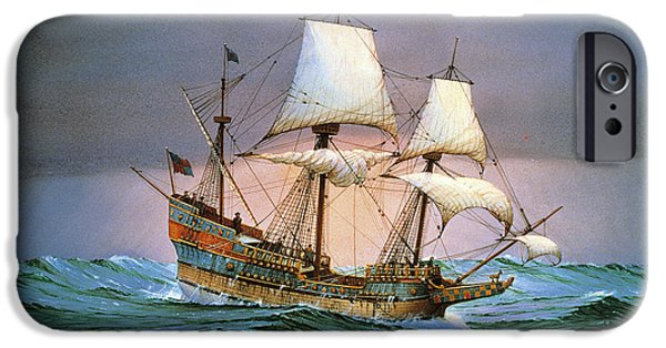 Francis Drake Sailed His Ship Golden Hind Into History IPhone Case by Cornelis de Vries