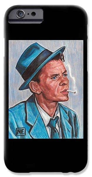 Frank Sinatra  IPhone Case by Neil Feigeles