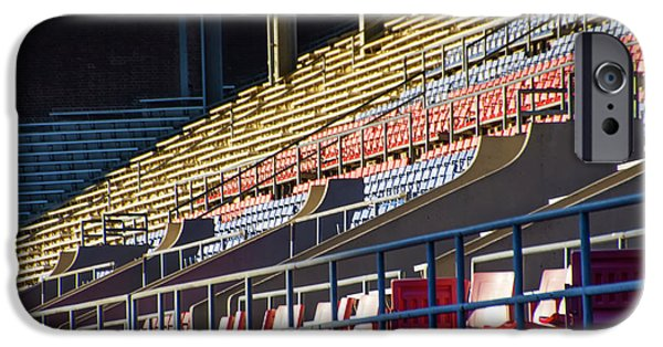 Franklin Field - Empty Stands IPhone Case by Bill Cannon