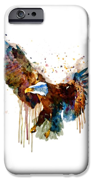 Free And Deadly Eagle IPhone Case by Marian Voicu