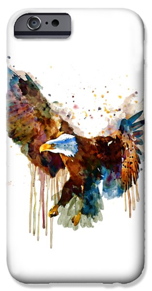 Free And Deadly Watercolor IPhone Case by Marian Voicu