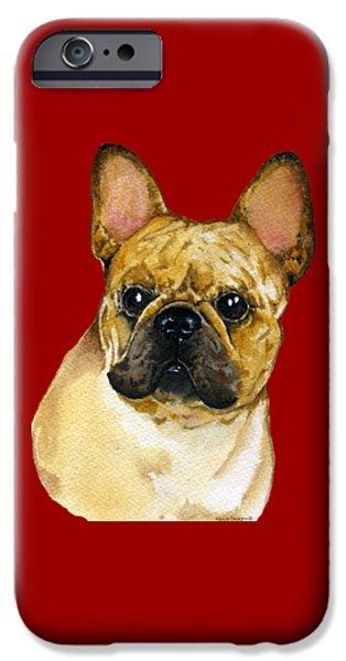 French Bulldog, Frenchie IPhone Case by Kathleen Sepulveda