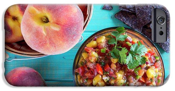 Fresh Peach Salsa IPhone Case by Teri Virbickis