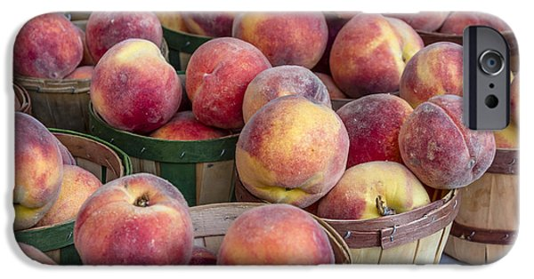 Fresh Peaches At The Market IPhone Case by Teri Virbickis