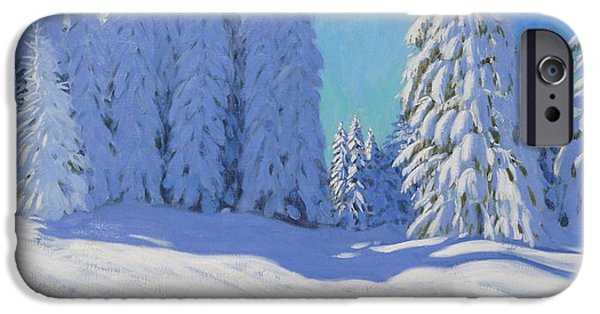 Fresh Snow  Morzine  France IPhone Case by Andrew Macara