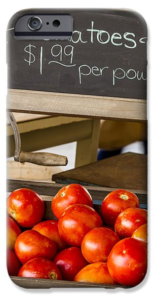 Fresh The Garden Tomatoes IPhone Case by Teri Virbickis
