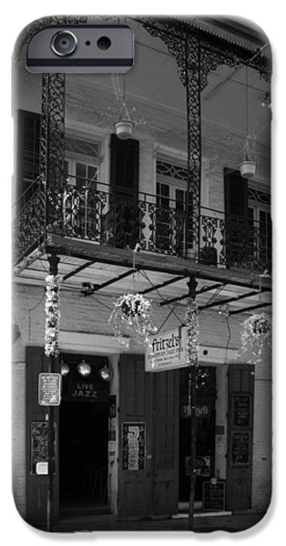 Fritzel's European Jazz Pub In Black And White IPhone 6s Case by Chrystal Mimbs