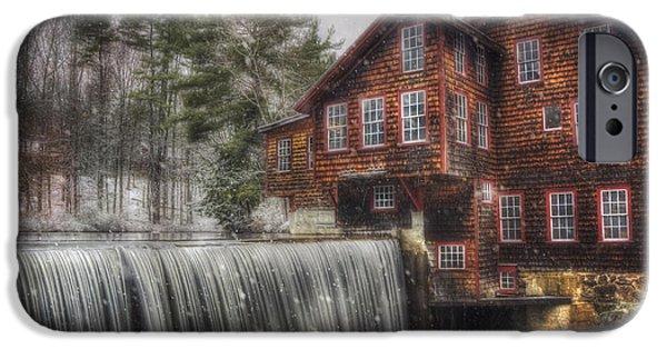 Frye's Measure Mill - Winter In New England IPhone Case by Joann Vitali