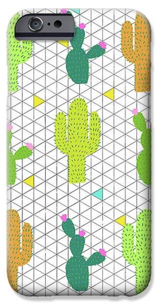Funky Cactus IPhone 6s Case by Nicole Wilson