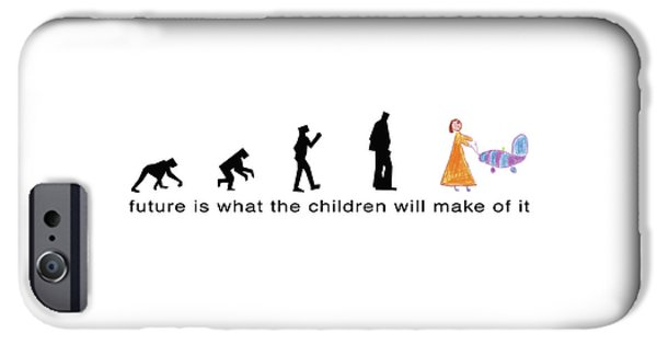 Future Is What The Children Will Make Of It IPhone Case by Murielle Sunier