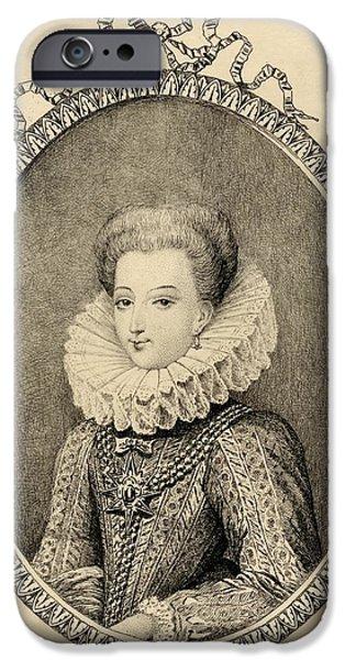 Gabrielle D Estrees, Duchess Of IPhone Case by Vintage Design Pics