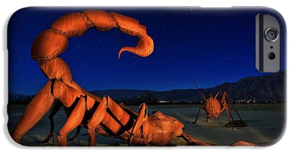 Galleta Meadows Estate Sculptures Borrego Springs IPhone Case by Sam Antonio