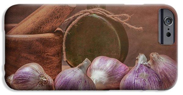 Garlic Bulbs IPhone Case by Tom Mc Nemar