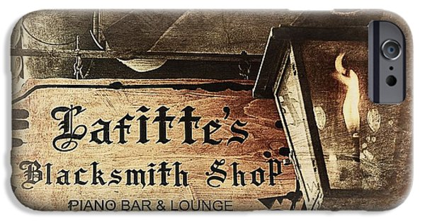 Gas Light At Lafitte's Blacksmith Shop IPhone Case by Toni Abdnour