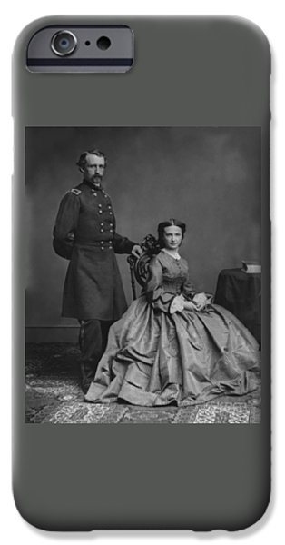 General Custer And His Wife Libbie IPhone Case by War Is Hell Store