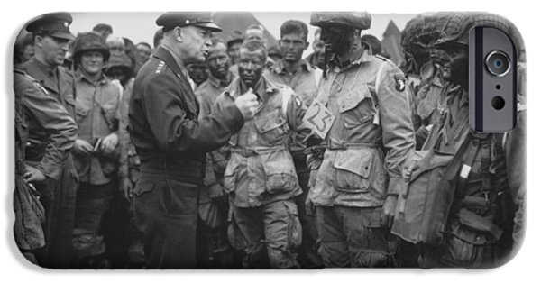 General Eisenhower On D-day  IPhone 6s Case by War Is Hell Store